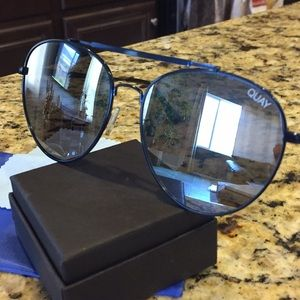 Quay Australia Lickety Split Blue Sunglasses/New